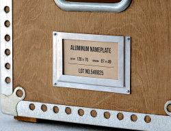 アルミニウム ネームプレート L