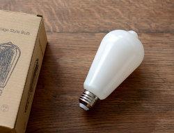 LED エジソン型ミルクガラス電球
